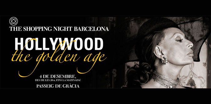 Passeig de Gràcia dresses up in the most Hollywood-Golden-Age style. Today, in the Shopping Night