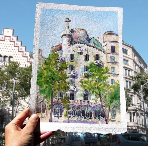 Casa Batlló celebrates the World Watercolour Day!