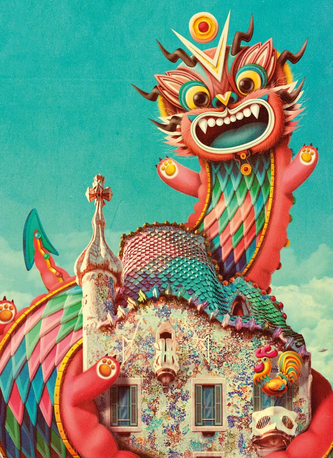 The Casa Batlló's Dragon wishes you… Happy Fire Rooster Year!