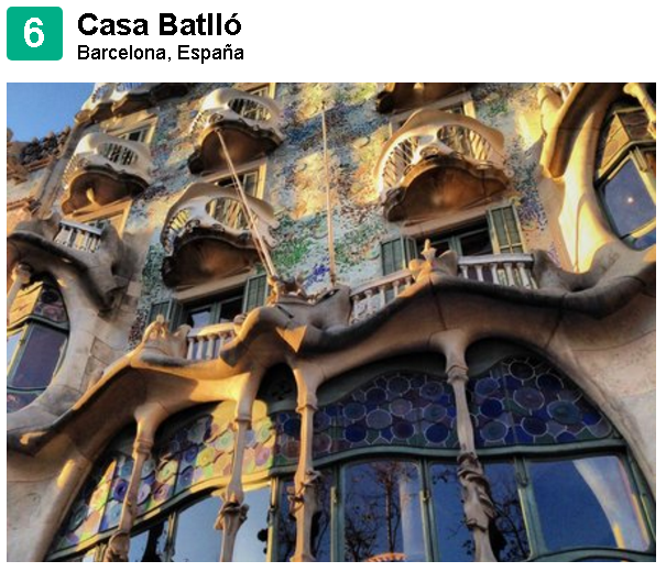 Casa Batlló one of Spain's Top 10 according to TripAdvisor travelers